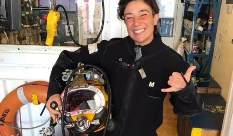 Mujeres marineras: la única mujer buzo con el máximo nivel profesional no consigue trabajo estable - El Extremo Sur